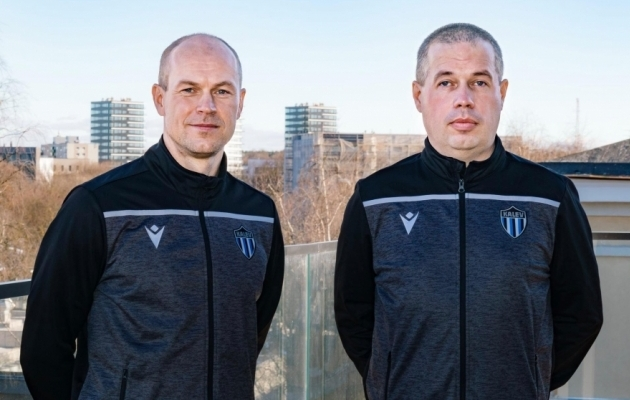 Kalevi kaks peatreenerit - vasakul Aivar Anniste, paremal Daniel Meijel. Foto: JK Tallinna Kalev / Facebook