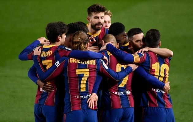 Barcelona kolmandat väravat tähistamas. Foto: Scanpix / Josep Lago / AFP