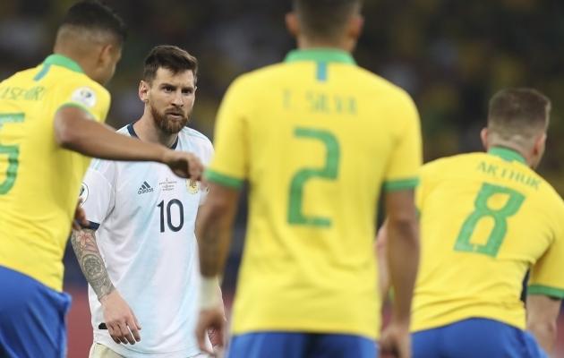 30. märtsil peaksid MM-valiksarjas kohtuma Brasiilia ja Argentina. Foto: Scanpix / AP / Natacha Pisarenko