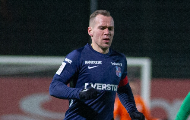 Paide Linnameeskonna kapten Andre Frolov. Foto: Jana Pipar / jalgpall.ee
