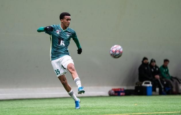 Aamir Abdallahil kulus Esiliigas väravatearve avamiseks vaid kaheksa minutit. Foto: Jana Pipar / jalgpall.ee