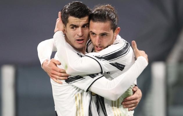 Juventuse tänased kangelased: Alvaro Morata (vasakul) ja Adrien Rabiot. Foto: Scanpix / Tano Pecoraro / LaPresse