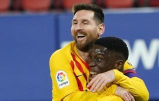 Barcelonas muutusteta: Messi ulatas hõbekandikul ette, Alba ja tulevikutäht vormistasid  (Eibari väravavaht eksis penaltil)
