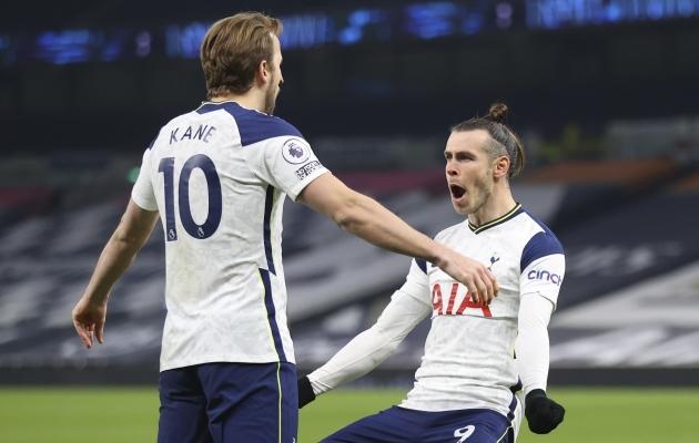 Harry Kane ja Gareth Bale. Foto: Scanpix / Julian Finney / Pool via AP