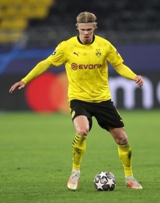 Dortmundi Borussia ründaja Erling Braut Haaland. Foto: Scanpix / EPA / Lars Baron