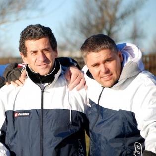 Fredo Getulio Aurelio ja Kuno Tehva 2008. aastal. Foto: Soccernet.ee arhiiv