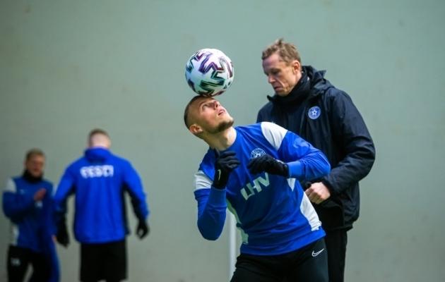 Erik Sorga koondise treeningul. Foto: Jana Pipar / jalgpall.ee