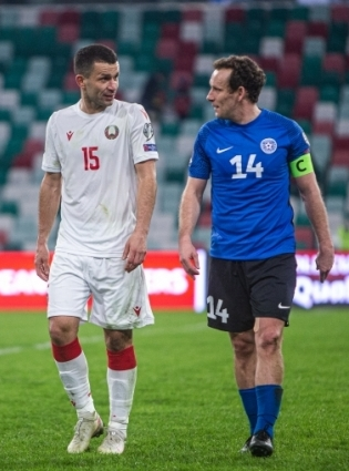 Valgevene ja Eesti võimalused jõuda valikgrupis kahe parema sekka on vastavalt väikesed ja olematud. Gibraltarile see sobib! Foto: Jana Pipar / jalgpall.ee