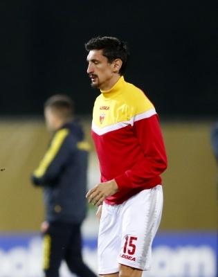 Montenegro koondise keskkaitsja, Madridi Atleticos mängiv Stefan Savic. Foto: Scanpix / Reuters / Ints Kalnins