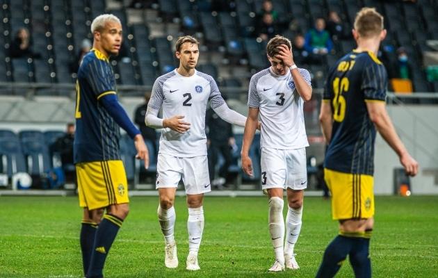 Rootsi asus Eesti vastu juba 3. minutil juhtima, aga see jäi ka kohtumise ainsaks väravaks. Foto: Jana Pipar / jalgpall.ee