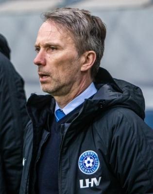 Eesti meeskonda juhendas kohapeal Martin Reim. Foto: Jana Pipar / jalgpall.ee