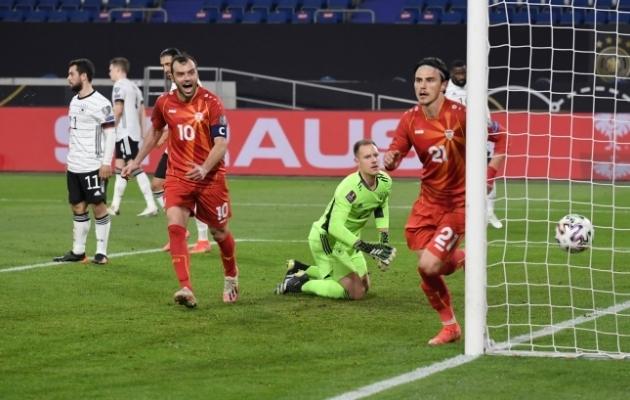 Põhja-Makedoonia alistas MM-valikmängus Saksamaa 2:1. Võõrsil! Foto: Scanpix / imagoimages / Maik Hölter / TEAM2sportphoto
