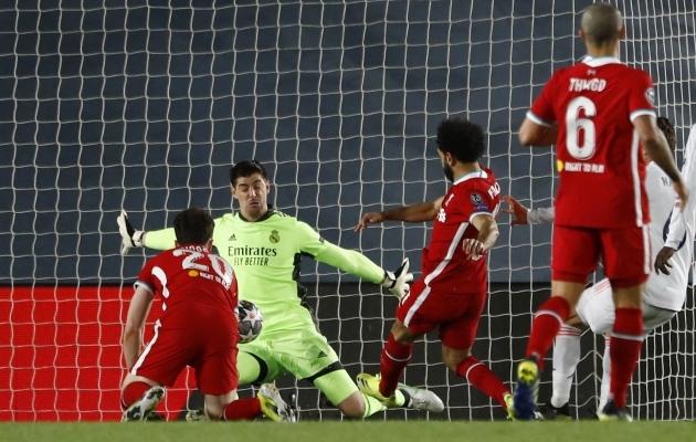Mohamed Salahi 51. minuti värav vähendas Liverpooli kaotusseisu minimaalseks. Foto: Scanpix / Reuters / Susana Vera