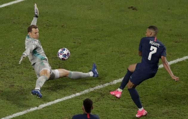 Manuel Neuer ja Kylian Mbappe kohtuvad jälle. Seekord veerandfinaalis. Foto: Scanpix / Manu Fernandez / AP