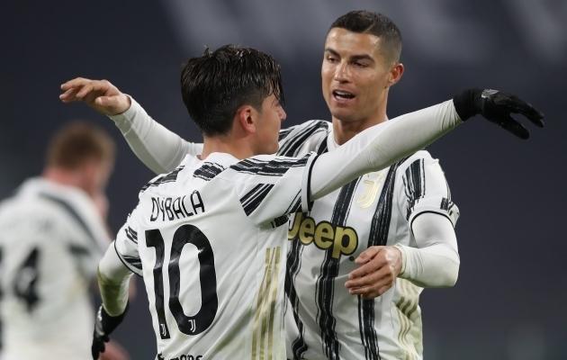 Paulo Dybala ja Cristiano Ronaldo. Foto: Scanpix / Jonathan Moscrop / ZUMA Press
