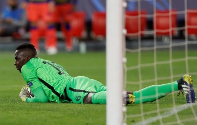 Londoni Chelsea väravavaht Edouard Mendy. Foto: Scanpix / EPA / Jose Manuel Vidal