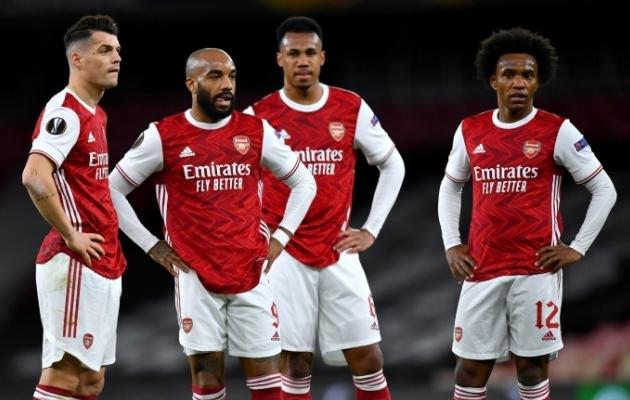 Londoni Arsenali mängijad. Foto: Scanpix / Reuters / Dylan Martinez