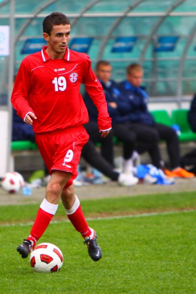22-aastane Zakaria Beglarišvili Gruusia särgis Tallinnas, A. Le Coq Arenal. Foto: Catherine Kõrtsmik