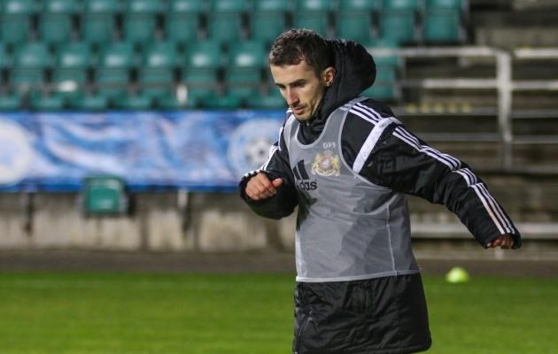 Zakaria Beglarišvili esimene, ainus ja viimane mäng Gruusia A-koondise eest toimus Tallinnas, kui ta sekkus Eesti vastu vahetusest viimaseks 11 minutiks. Foto: Jana Pipar