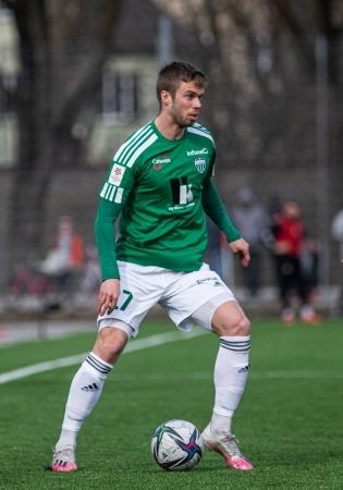 FCI Levadia ääreründaja Robert Kirss. Foto: Jana Pipar / jalgpall.ee