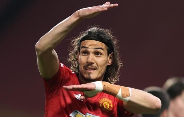 Manchester Unitedi ründaja Edinson Cavani. Foto: Scanpix / Clive Brunskill / Reuters