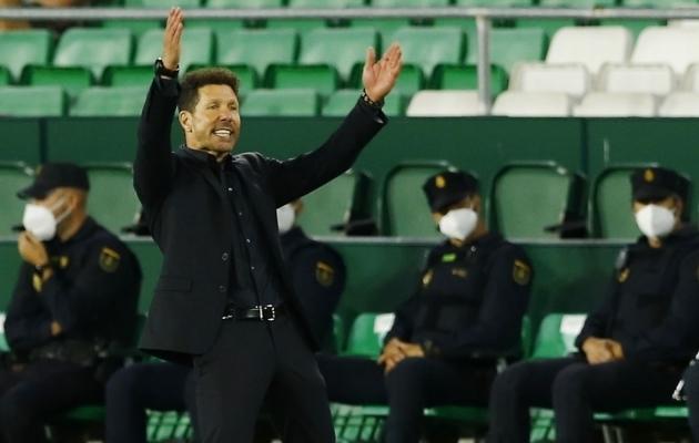 Atletico Madridi peatreener Diego Simeone. Foto: Scanpix / Marcelo Del Pozo / Reuters