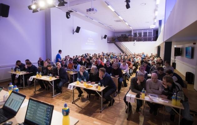 2019. aastal A. Le Coq Arena Elmar Saare nimelises konverentsikeskuses toimunud meistrivõistlused. Foto: Jana Pipar / jalgpall.ee