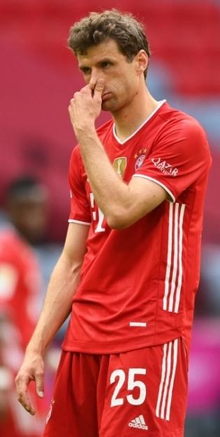 Müncheni Bayerni raudvara Thomas Müller. Foto: Scanpix / epa / Matthias Hangst