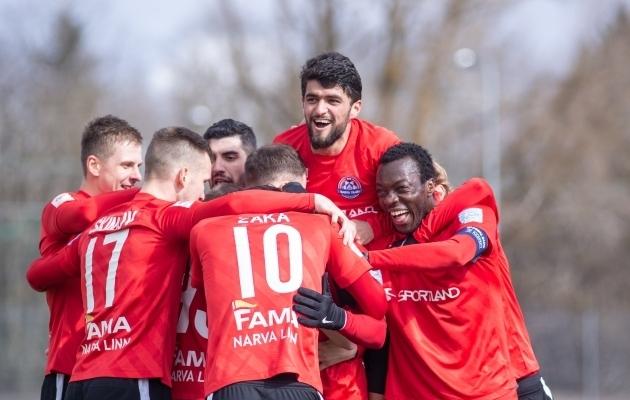 Narva Transi mängijad. Foto: Jana Pipar / jalgpall.ee