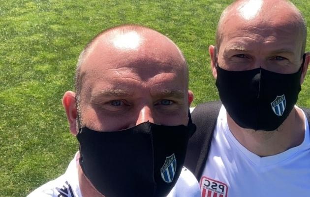 Joel Lindpere ja Aivar Anniste. Foto: Jalgpalliklubi Tallinna Kalev / Facebook