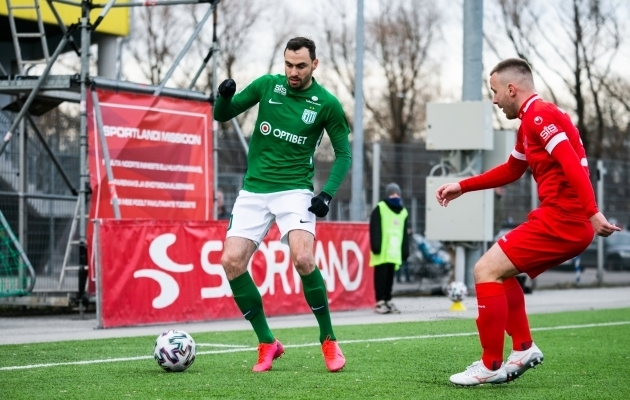 Sergei Zenjov 2021. aastal FC Flora särgis. Foto: Brit Maria Tael