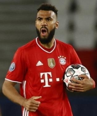 Müncheni Bayerni värava lõi vigastatud Robert Lewandowski asemel edurivis mänginud Eric Maxim Choupo-Moting. Foto: Scanpix / Reuters / Christian Hartmann