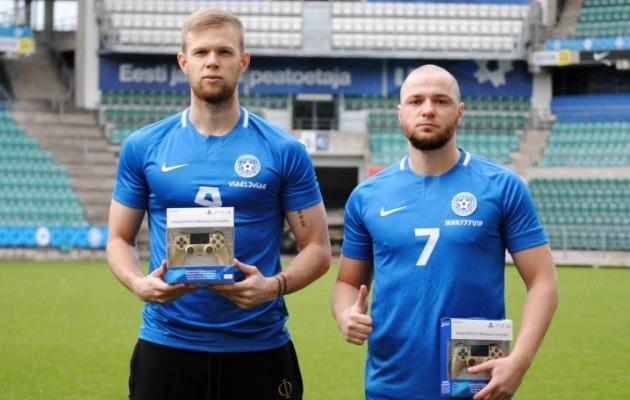 Mullu osales Eesti esmakordselt e-jalgpalli EM-il, mille võistlusplatvormiks oli PES 2020. Pildil Eesti esindajad Vladislav Tšurilkin ja Miroslaw Ryszkiewicz. Foto: EJL
