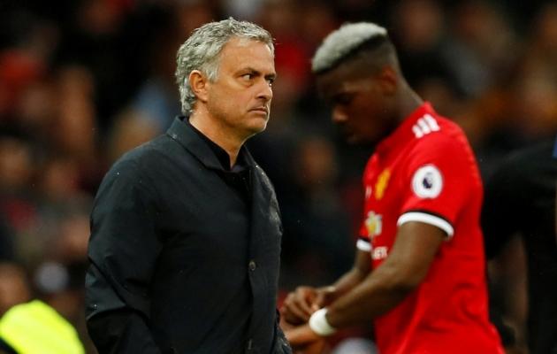 Jose Mourinho ja Paul Pogba suhted läksid lõpuks üsna jahedaks. Foto: Scanpix / Reuters / Jason Cairnduff