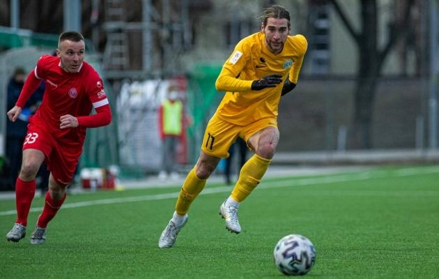 FC Kuressaarel on viie mänguga punktiarve avamata. Mõtlemisainet jagub. Foto: Jana Pipar / jalgpall.ee