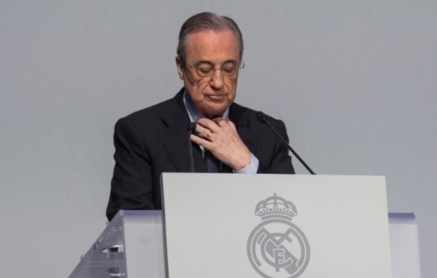 Real Madridi president, üks Superliiga projekti eestvedajaid Florentino Perez. Foto: Scanpix / Rodrigo Jimenez / EPA