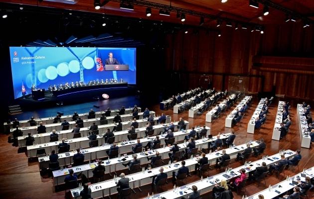 Teisipäevale Šveitsis toimunud UEFA kongress. Foto: Scanpix / Handout / UEFA / AFP