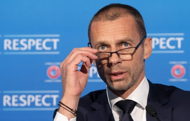 UEFA president Aleksander Ceferin. Foto: Scanpix / AFP / UEFA / Richard Juilliart