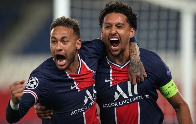 Marquinhos on äsja löönud avavärava ning tema ja Neymari jaoks on kõik veel hästi. Foto: Scanpix / PA Wire / PA Images / Julien Poupert