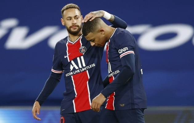 PSG sõltub suuresti Neymarist ja Kylian Mbappest. Foto: Scanpix / Christian Hartmann / Reuters