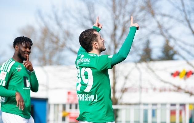 Ernest Agyiri ja Zakaria Beglarišvili mahtusid 10. vooru sümboolsesse koosseisu. Foto: Liisi Troska / jalgpall.ee