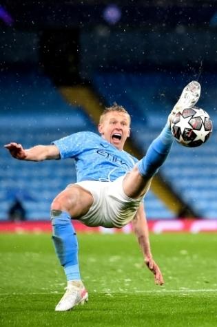 Manchester City vasakkaitsja Oleksandr Zintšenko. Foto: Scanpix / EPA / Peter Powell