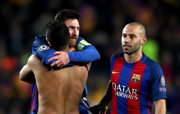 Lionel Messi ja Javier Mascherano mängisid aastaid Barcelonas koos. Foto: Scanpix / Nick Potts / Empics Sport