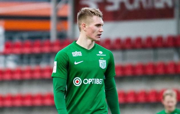 FC Flora keskkaitsja Henrik Pürg. Foto: Brit Maria Tael