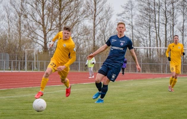 Mattias Männilaan sai kohtumises Paidega põlvevigastuse. Foto: Allan Mehik