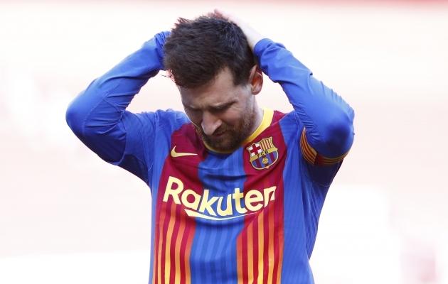 Lionel Messi ja Barcelona tiitlilootus pole enam nende enda, vaid Real Madridi kätes. Foto: Scanpix / AFP Photo / Joan Monfort
