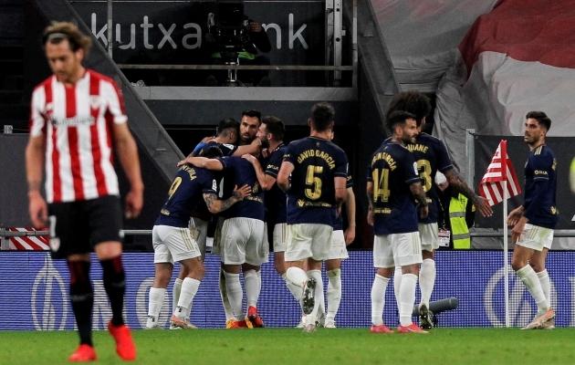 Athletic Bilbao oli võidus kinni viimaste minutiteni. Foto: Scanpix / EPA / Miguel Tona