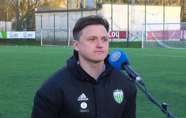 FCI Levadia U21 peatreener Robert Sadovski. Foto: Soccernet.ee