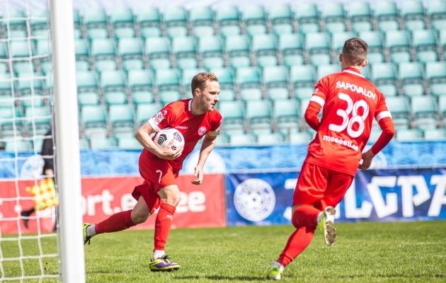 Sander Puri lõi viimati FC Flora võrku oma selle hooaja esimese värava, aga kaotusest see Tallinna Legioni ei päästnud. Foto: Foto: Jana Pipar / jalgpall.ee
