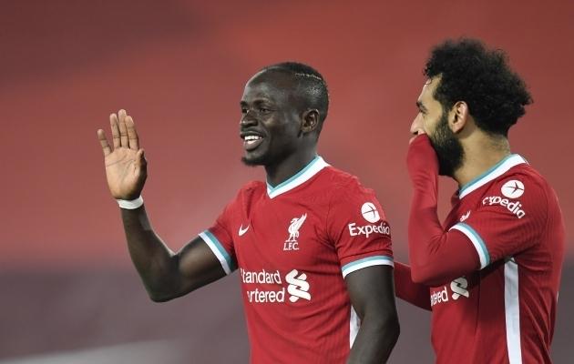 Liverpooli ründajad Sadio Mane (vasakul) ja Mohamed Salah. Foto: Scanpix / Peter Powell  / Reuters